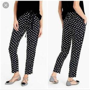 J Crew Crepe Pants with Star Print
